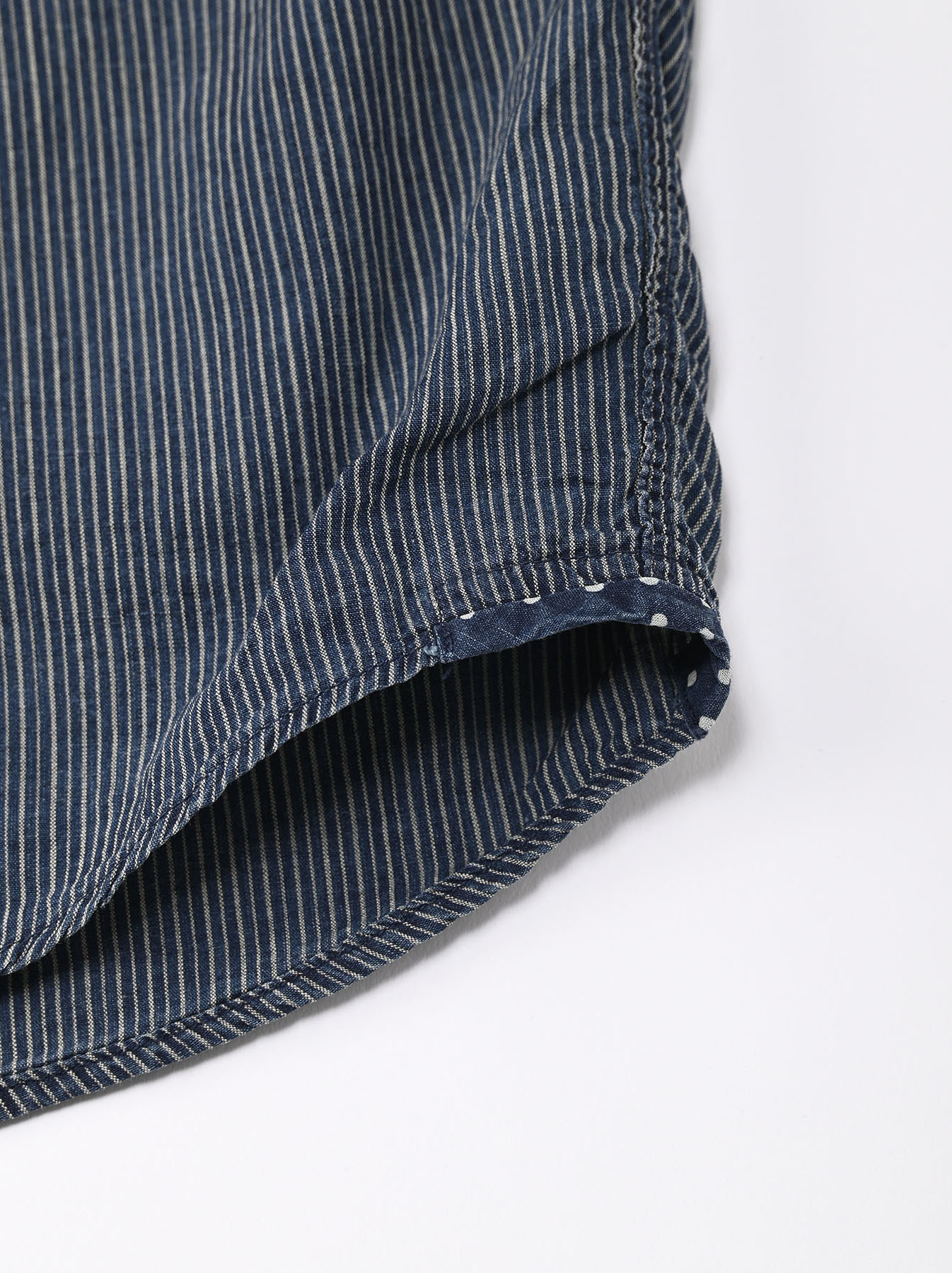 Indigo Hickory Tappet Ocean Stand Shirt-9