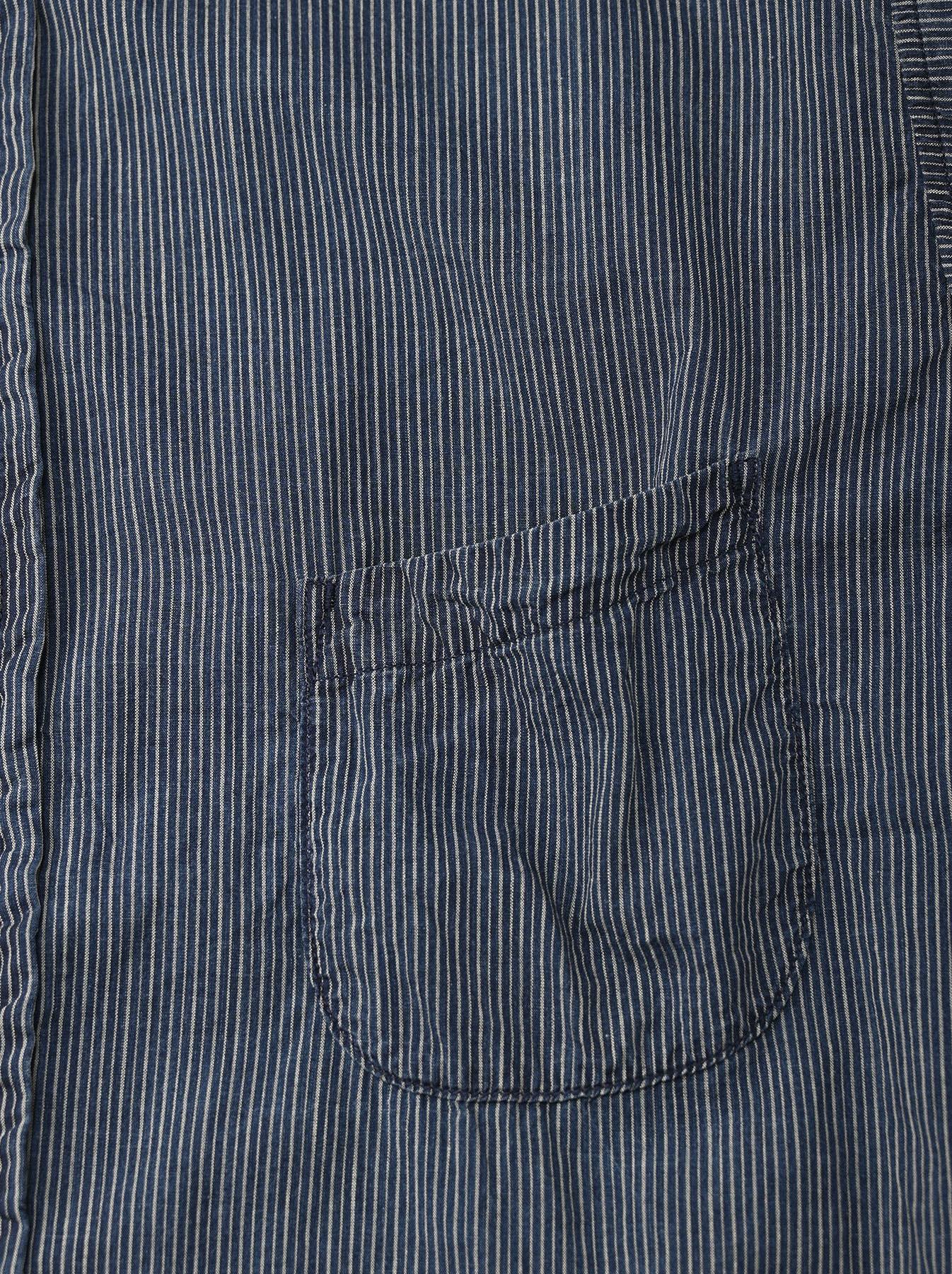 Indigo Hickory Tappet Ocean Stand Shirt-7