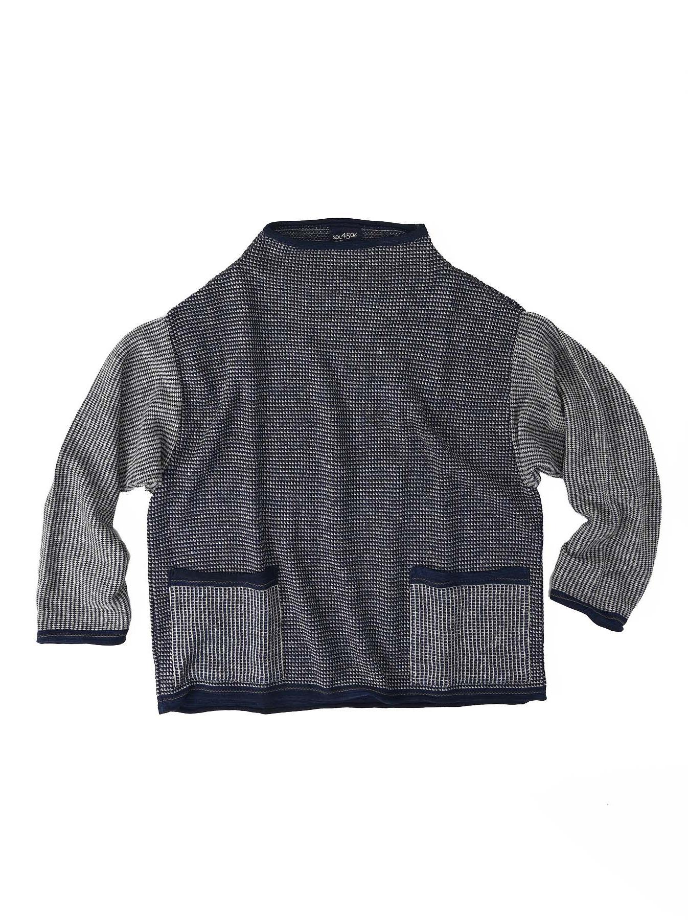 Indigo Tappet Kanoko Umahiko Sweater-1