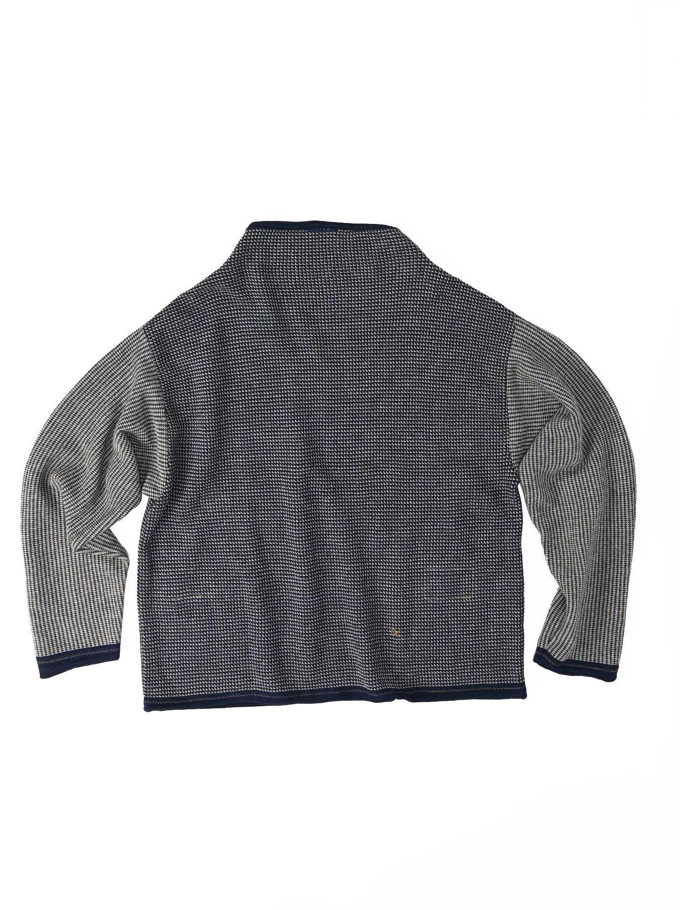 Indigo Tappet Kanoko Umahiko Sweater-11