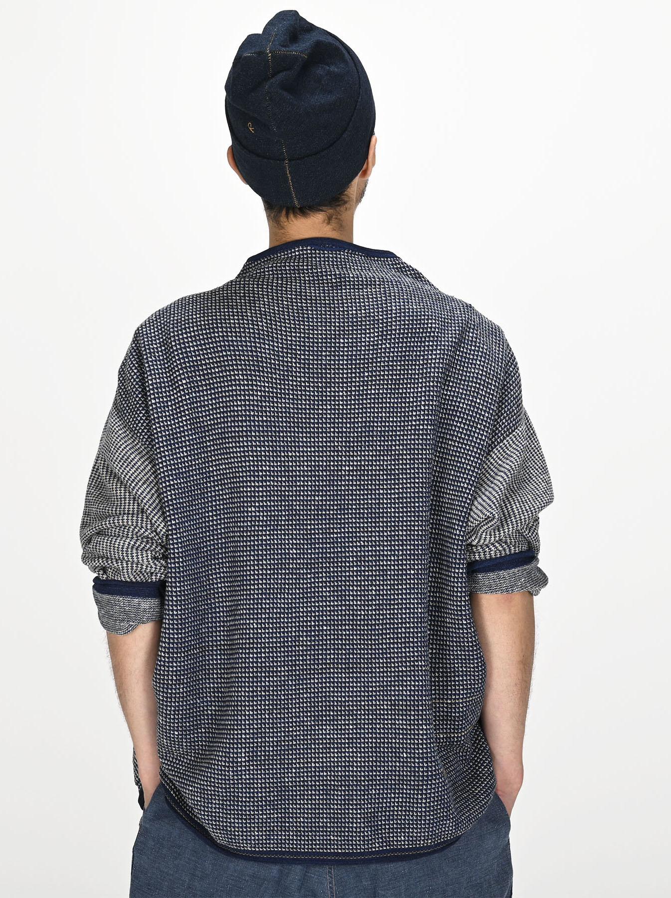 Indigo Tappet Kanoko Umahiko Sweater-7