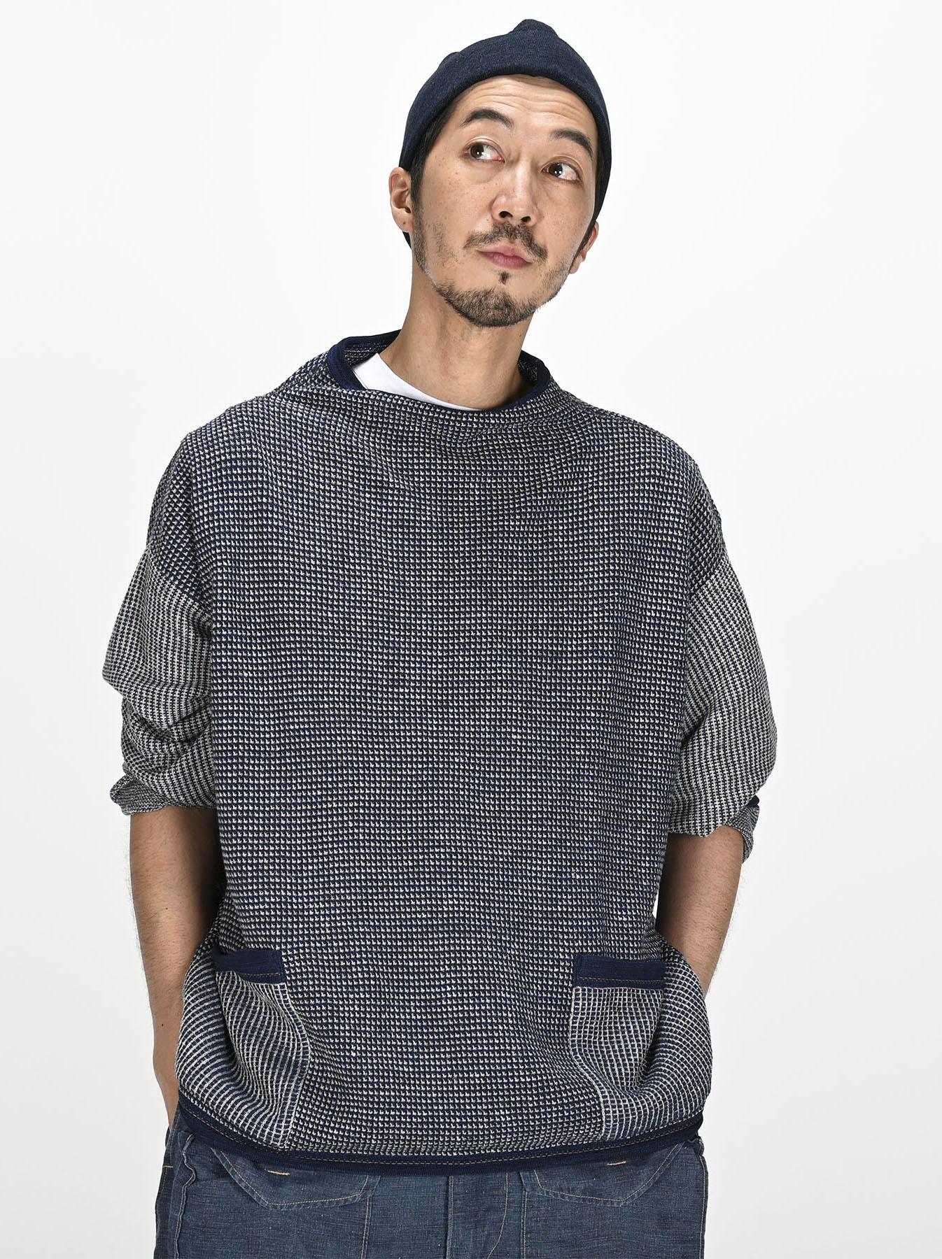 Indigo Tappet Kanoko Umahiko Sweater-6