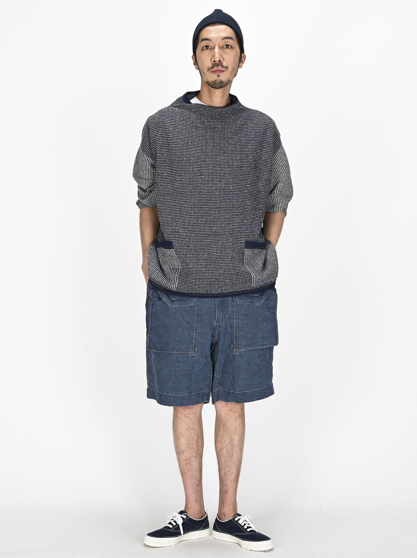 Indigo Tappet Kanoko Umahiko Sweater-8