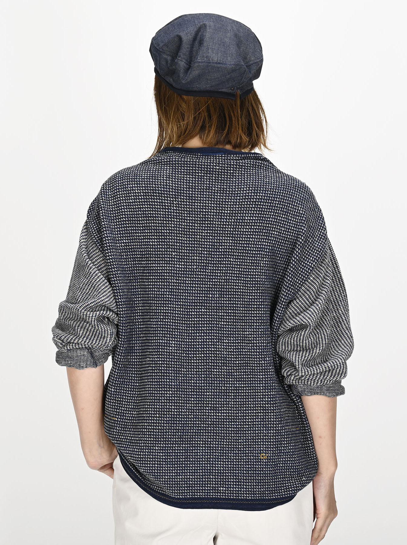 Indigo Tappet Kanoko Umahiko Sweater-4