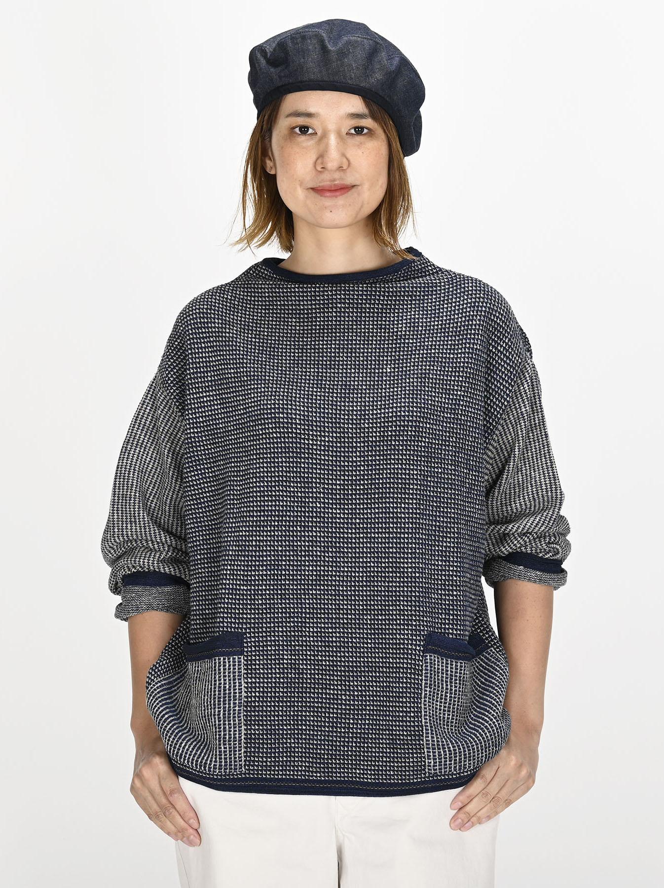Indigo Tappet Kanoko Umahiko Sweater-2