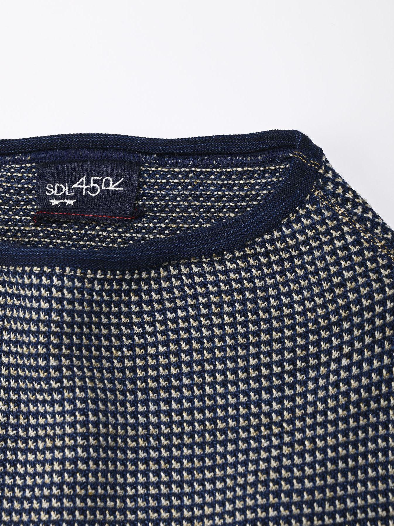 Indigo Tappet Kanoko Umahiko Sweater-9