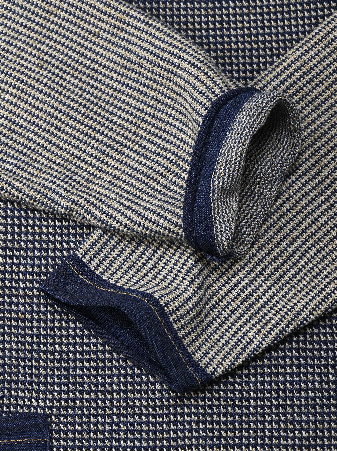 Indigo Tappet Kanoko Umahiko Sweater-10