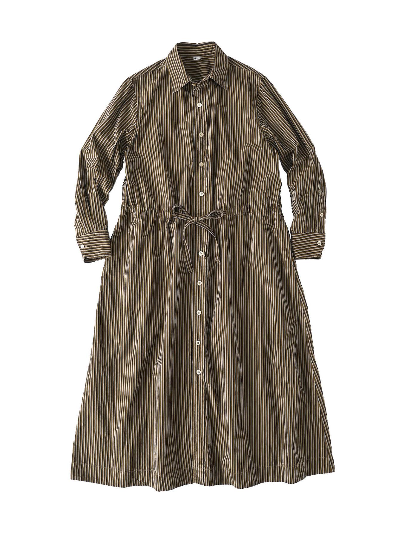 Dump Autumn-coloured Shirt Dress-1