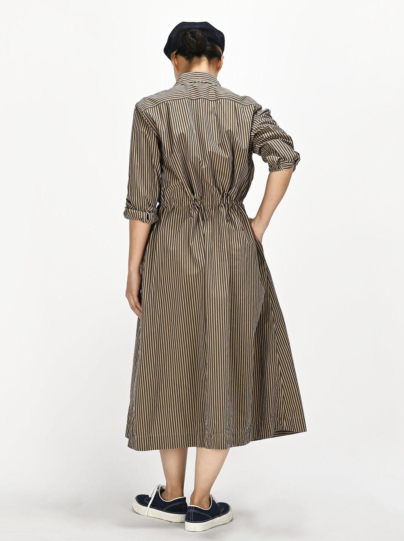 Dump Autumn-coloured Shirt Dress-4