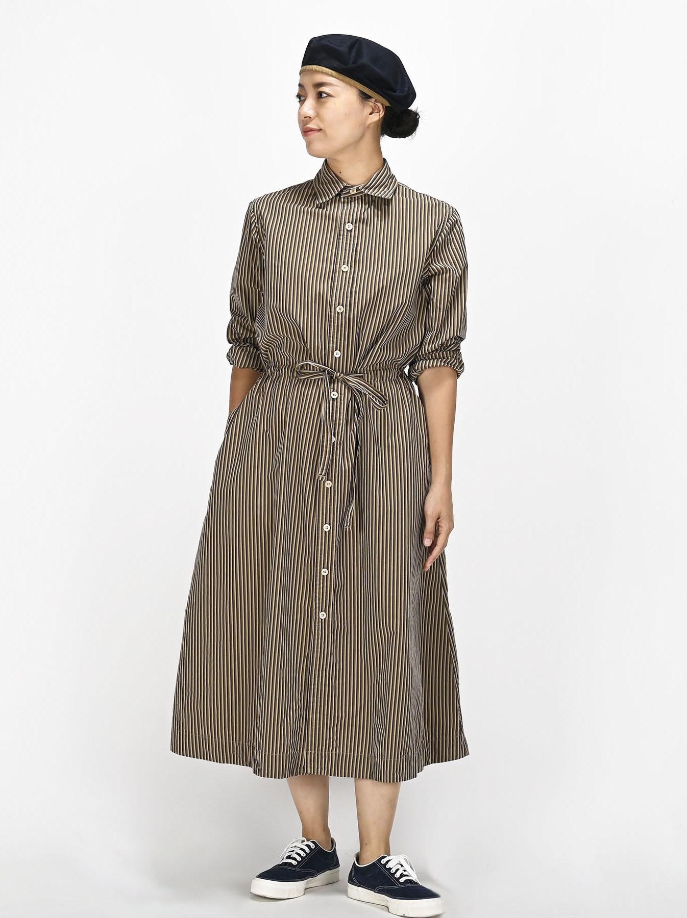 Dump Autumn-coloured Shirt Dress-2