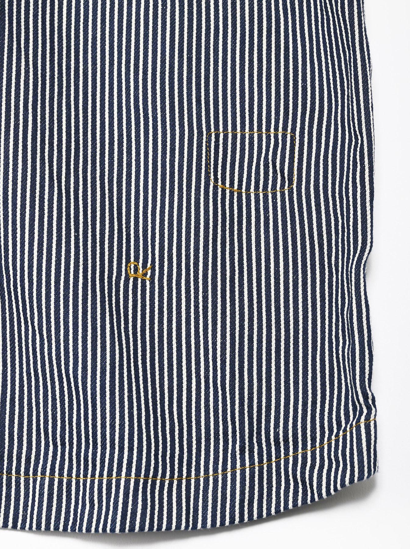 Komugi Denim Tuck Lace T-shirt-9