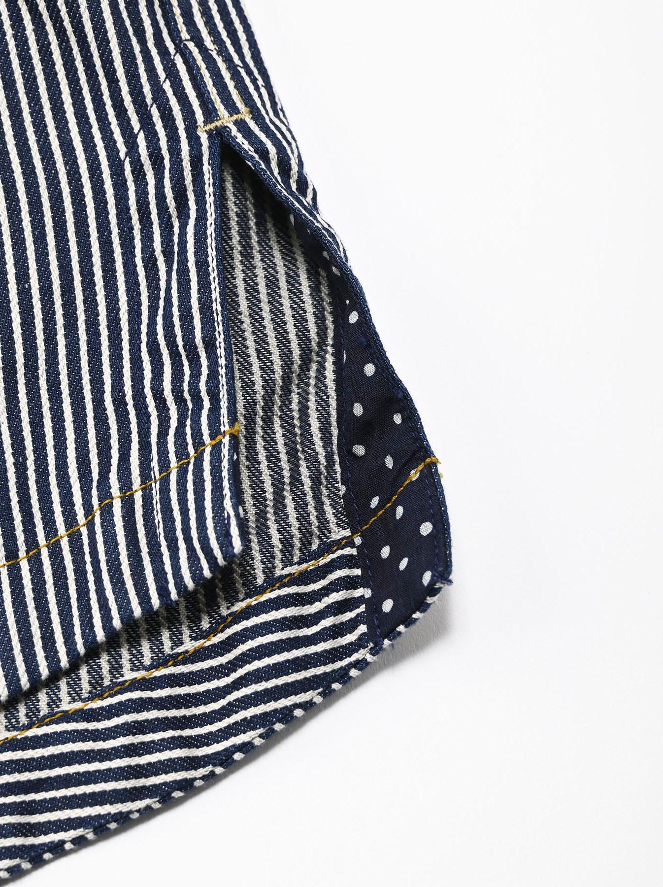 Komugi Denim Tuck Lace T-shirt-10