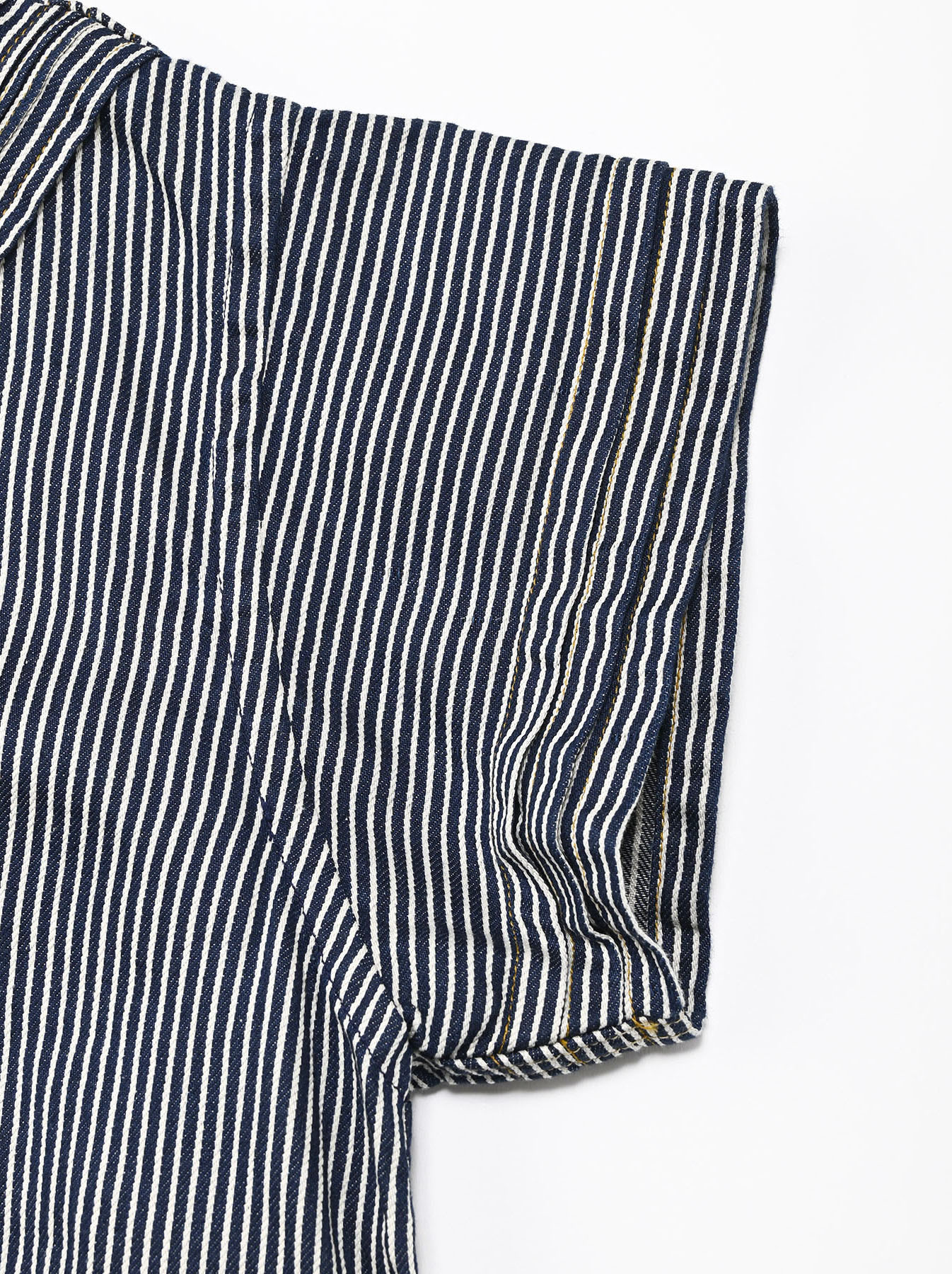 Komugi Denim Tuck Lace T-shirt-8