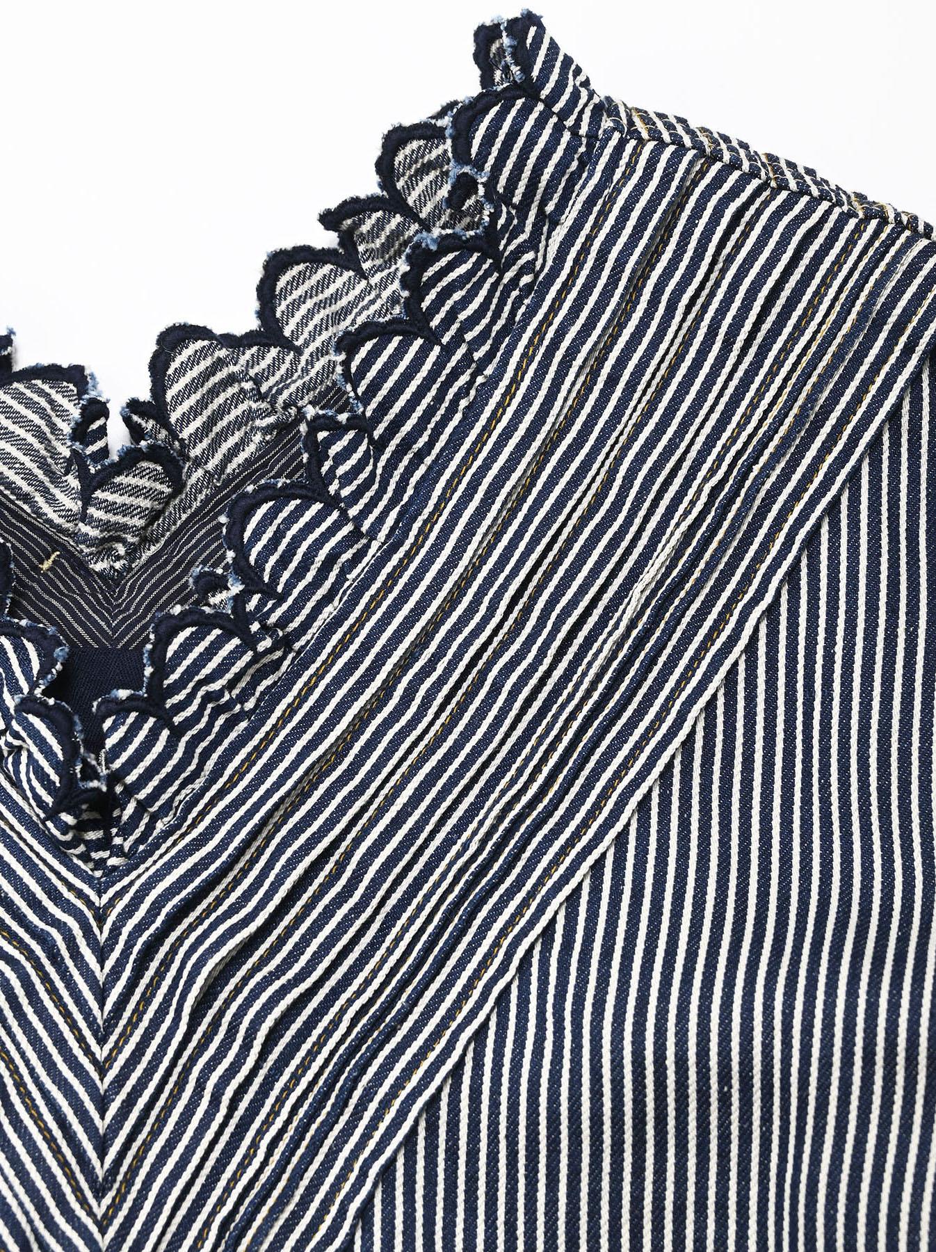 Komugi Denim Tuck Lace T-shirt-6