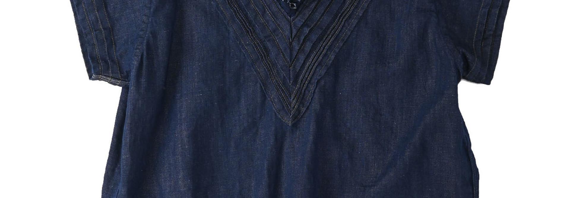 Komugi Denim Tuck Lace T-shirt