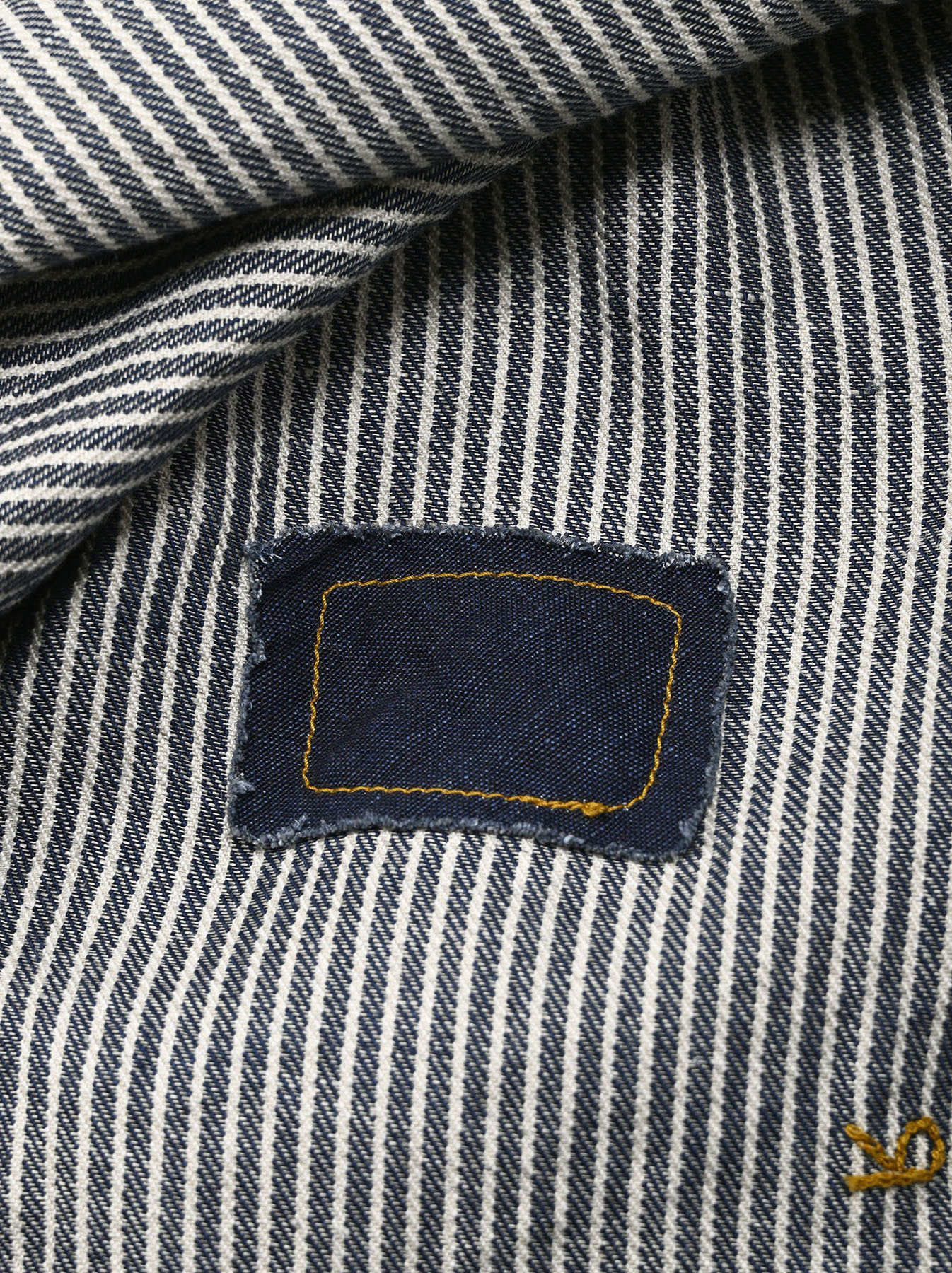 Komugi Denim Tuck Lace T-shirt-11