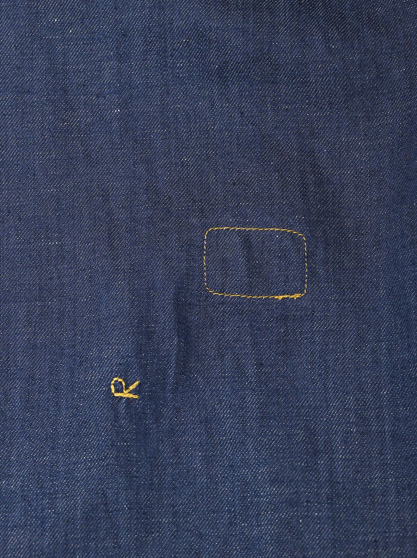 Komugi Denim Tuck Lace Dress-10