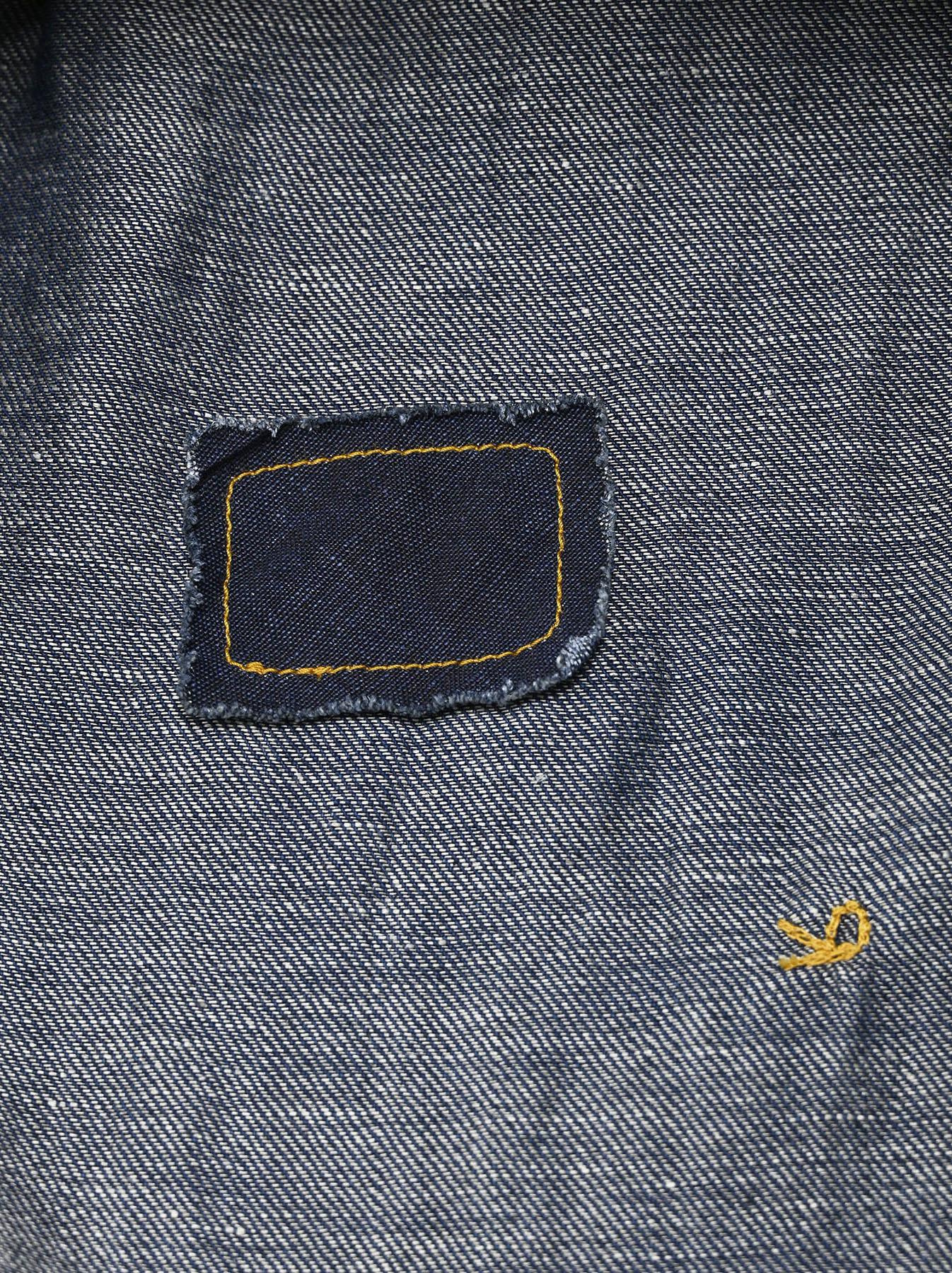 Komugi Denim Tuck Lace Dress-12