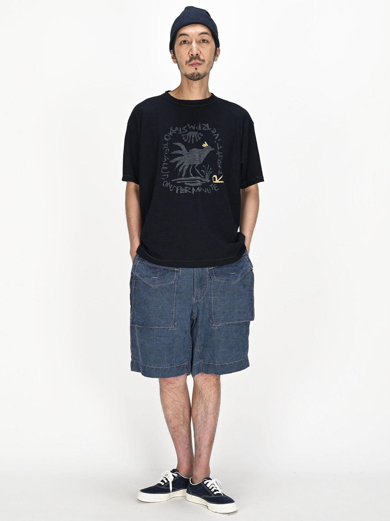 Indigo Sumite de Chicken T-shirt-5