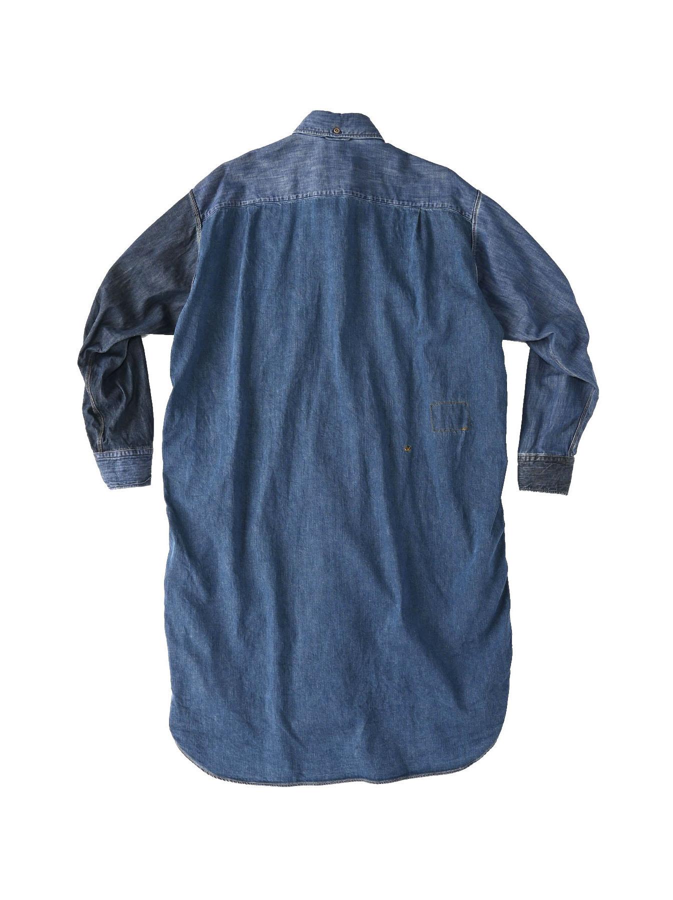 Indigo Zennin Shūgou Smock Dress-10