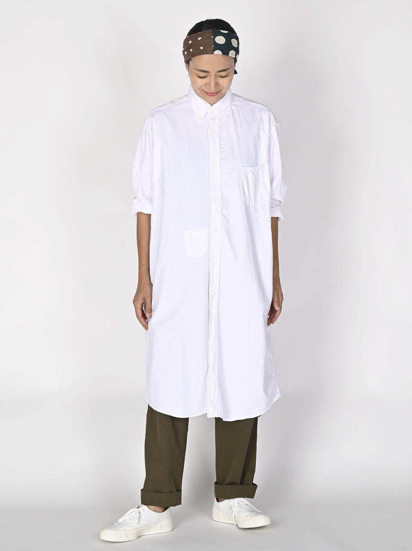 White Zenin Shugo Smock Dress-2