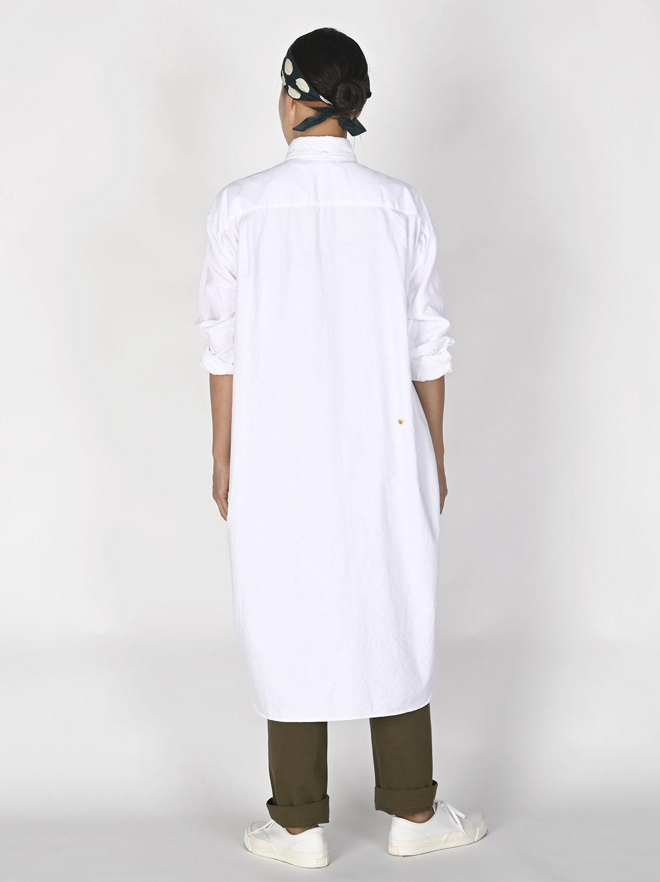 White Zenin Shugo Smock Dress-4