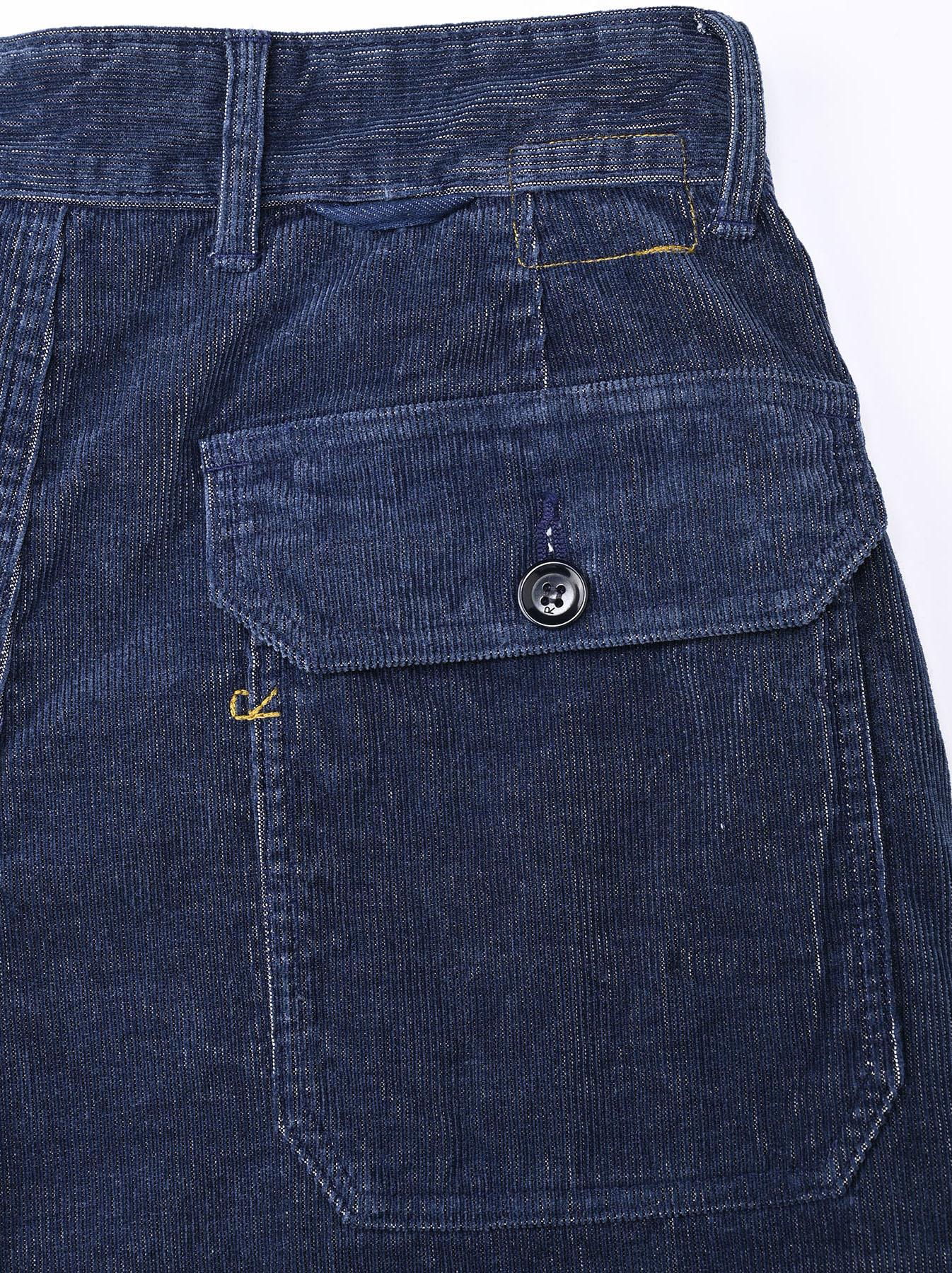 Indigo Corduroy 908 Baker Pants-11