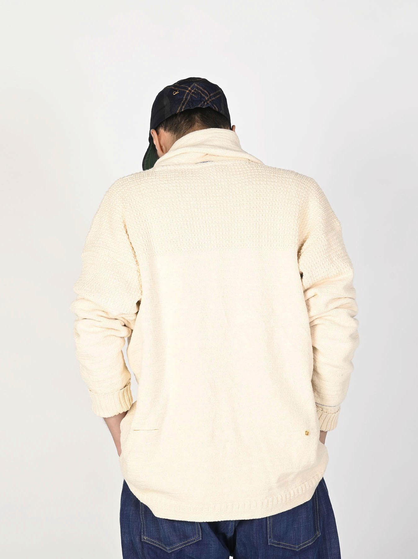 Stretch Knit Shawl Collar 908 Blouson-3