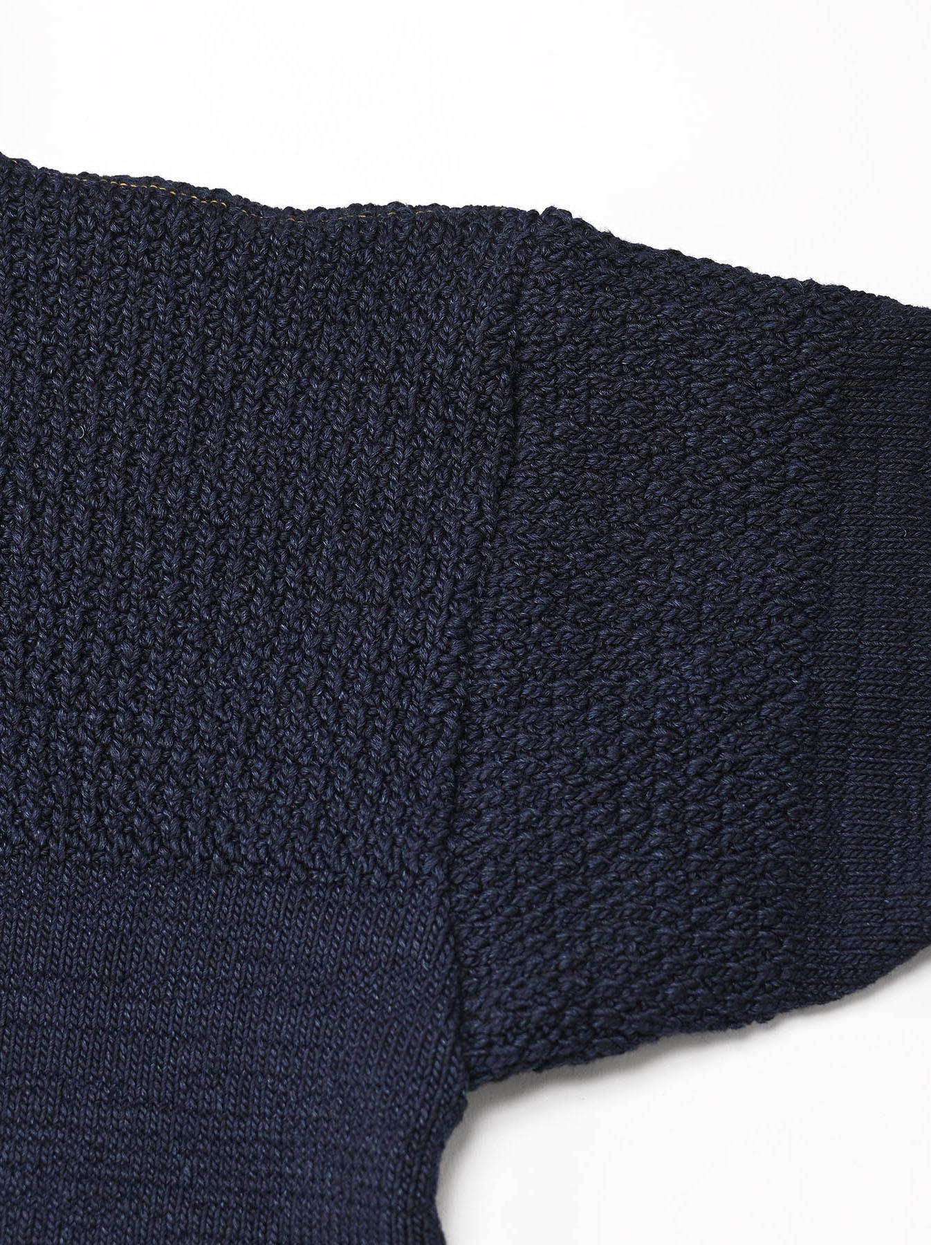 Indigo Stretch Knit Shawl Collar 908 Blouson-9