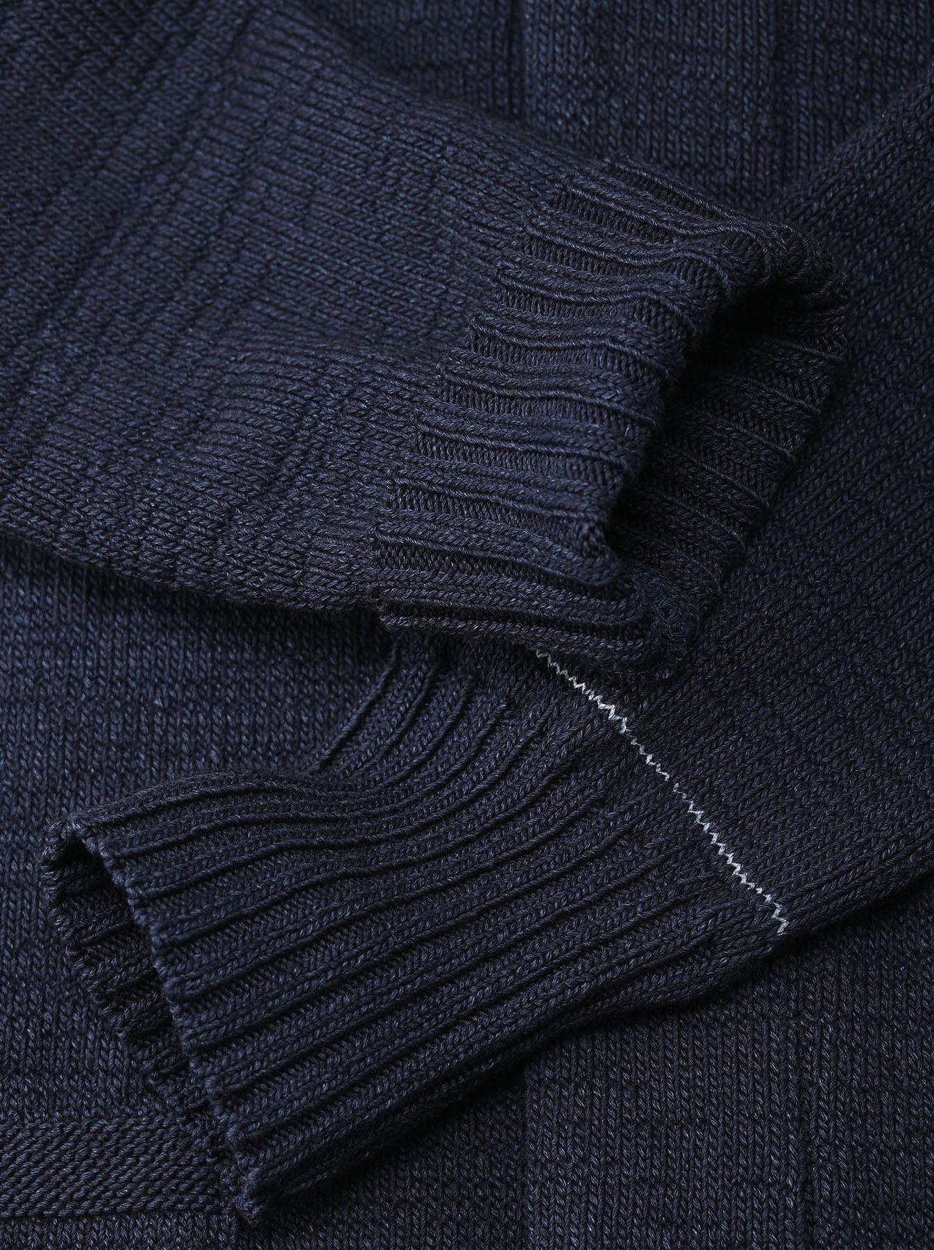 Indigo Stretch Knit Shawl Collar 908 Blouson-10