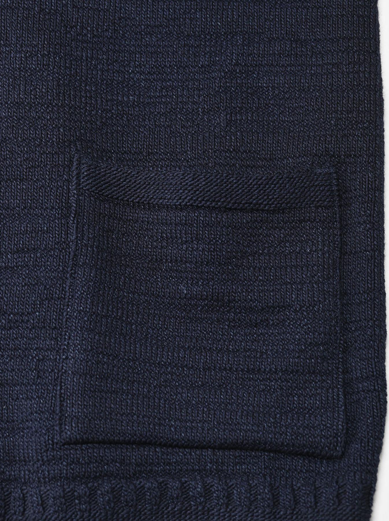 Indigo Stretch Knit Shawl Collar 908 Blouson-11