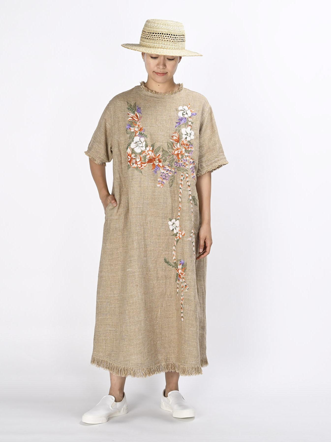 Gima Tweed Leilei Embroidery Dress-2