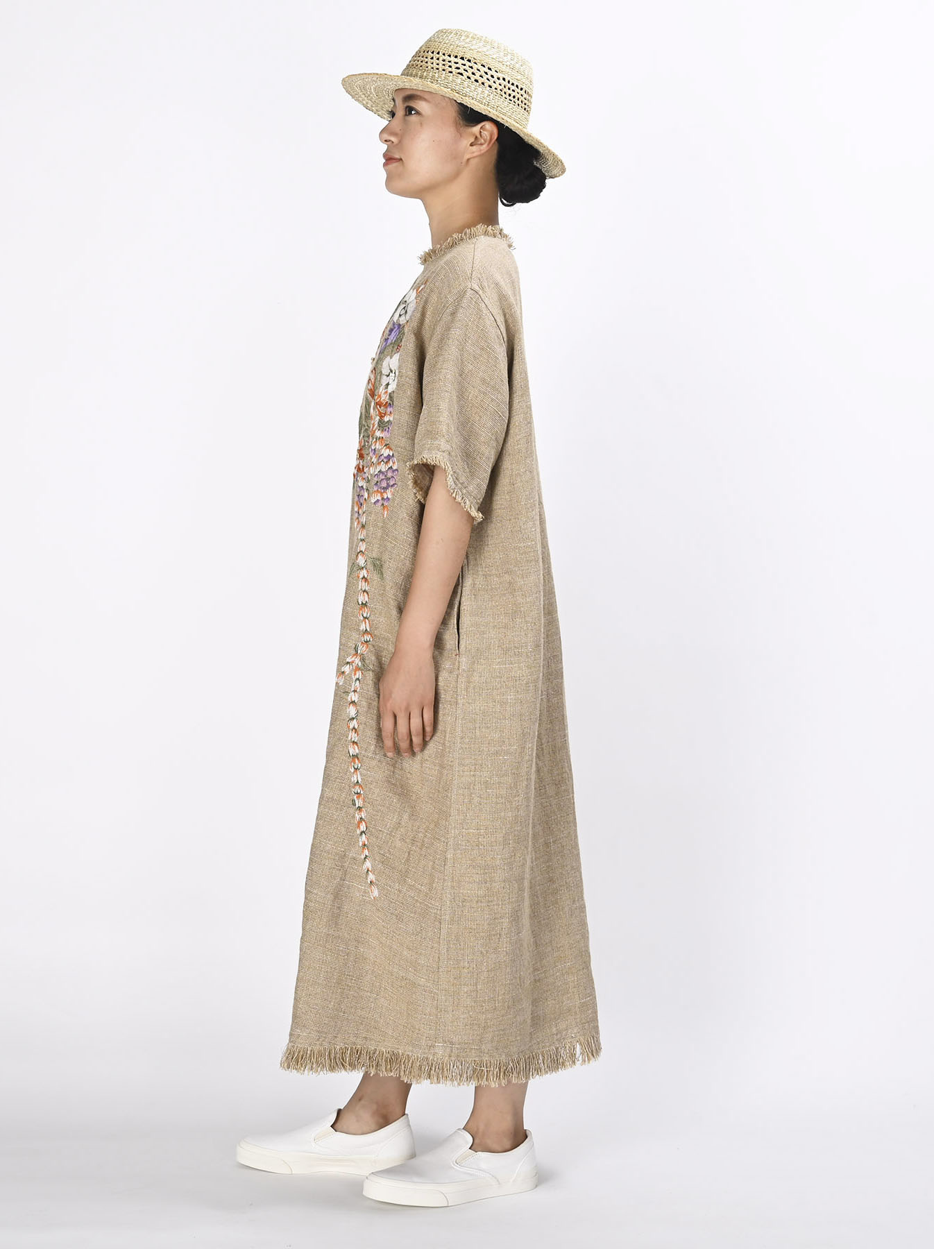 Gima Tweed Leilei Embroidery Dress-3