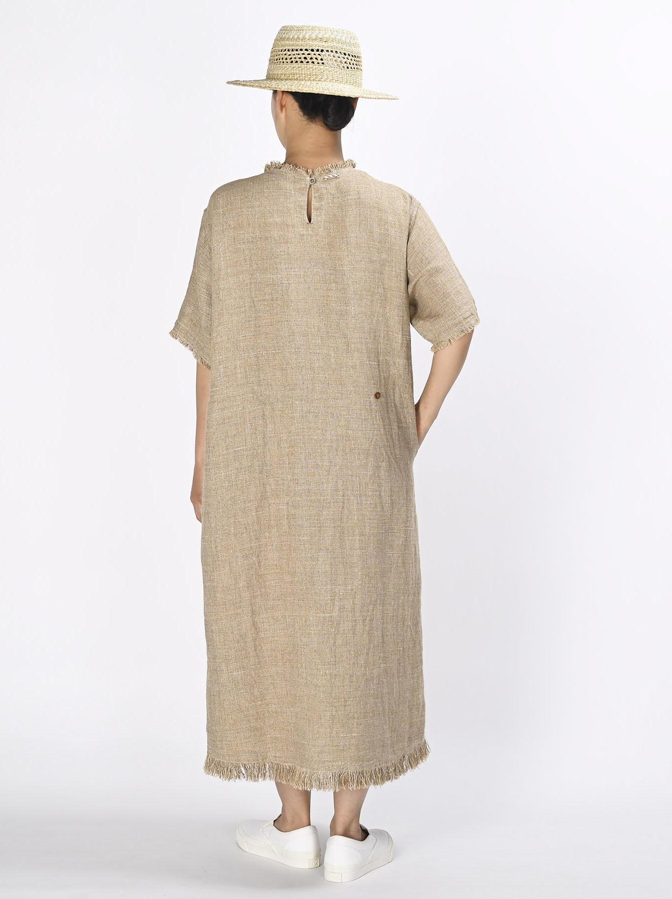 Gima Tweed Leilei Embroidery Dress-4