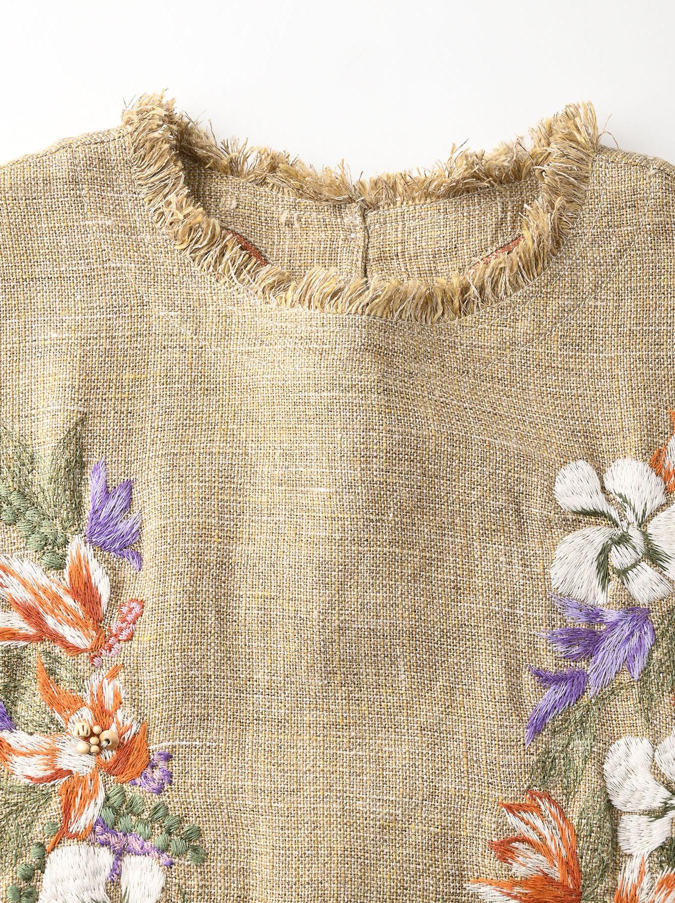 Gima Tweed Leilei Embroidery Dress-5