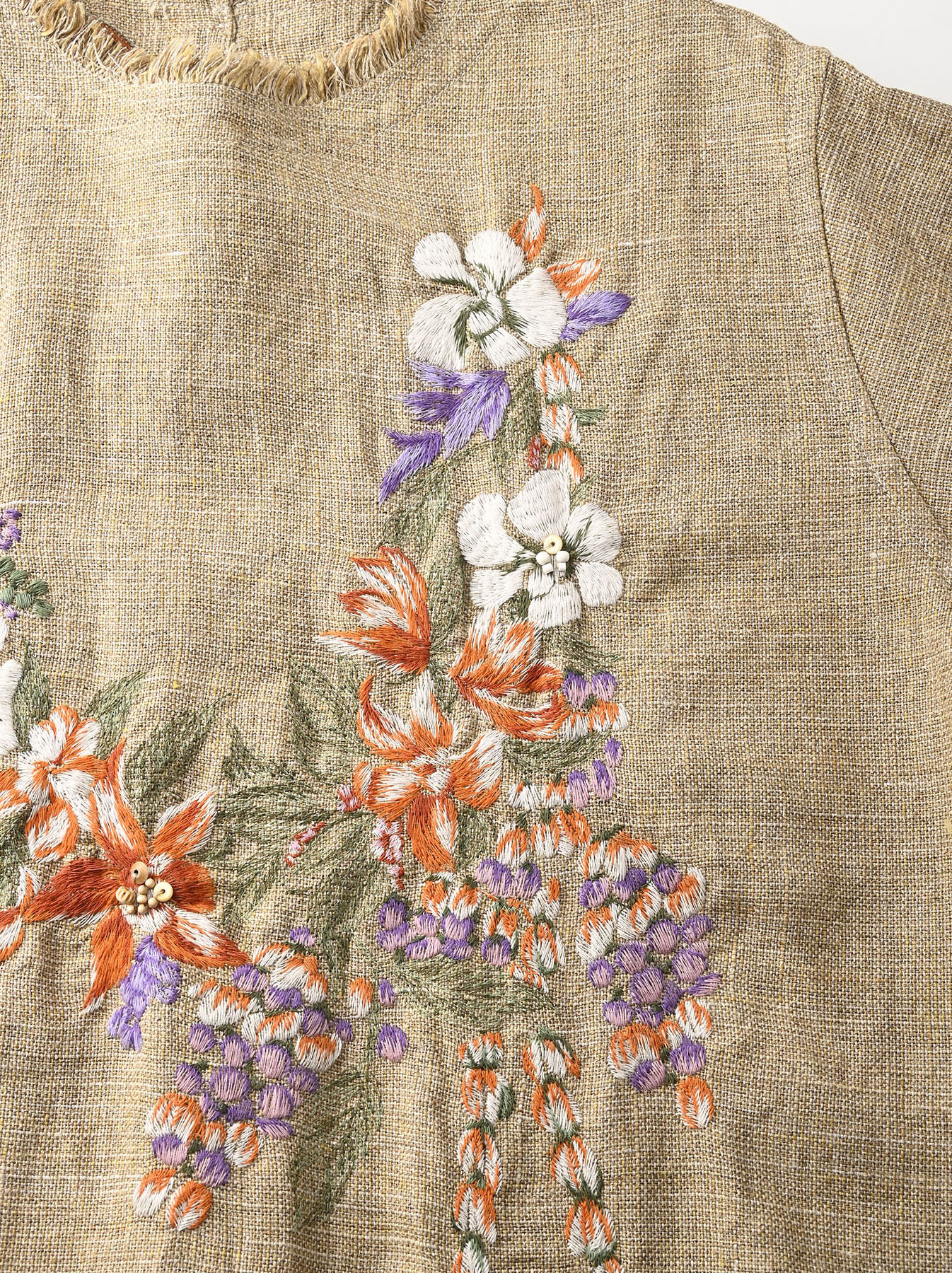 Gima Tweed Leilei Embroidery Dress-6