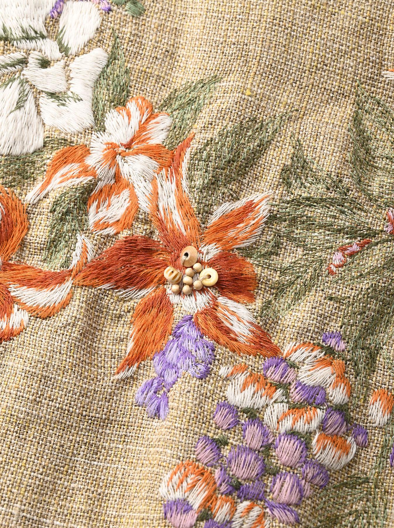 Gima Tweed Leilei Embroidery Dress-7