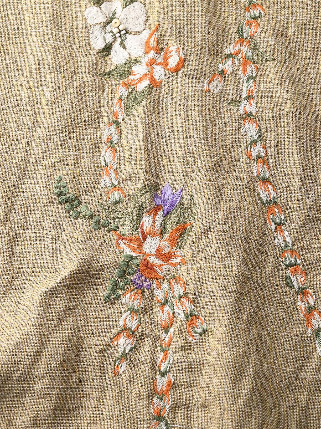 Gima Tweed Leilei Embroidery Dress-9