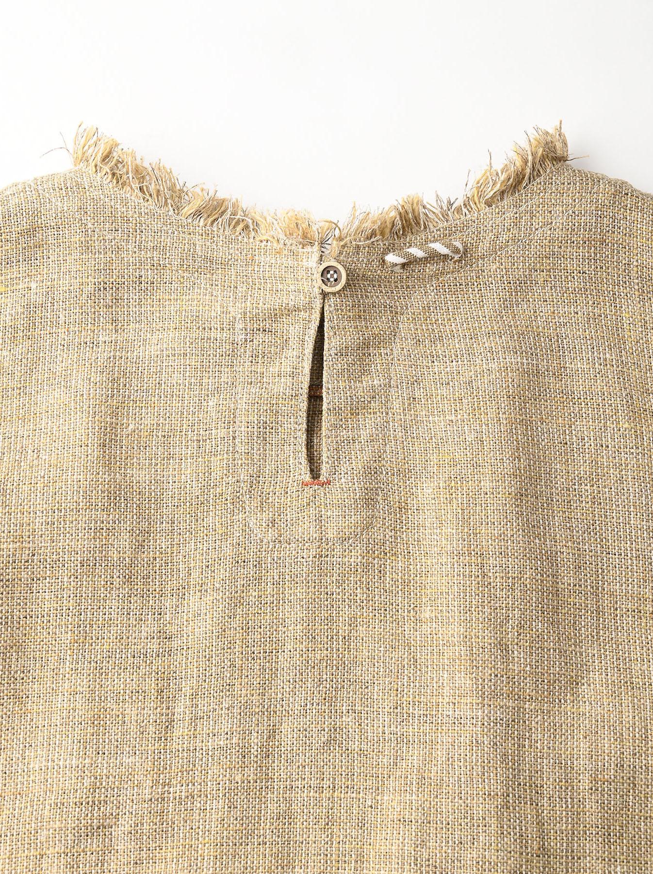 Gima Tweed Leilei Embroidery Dress-12