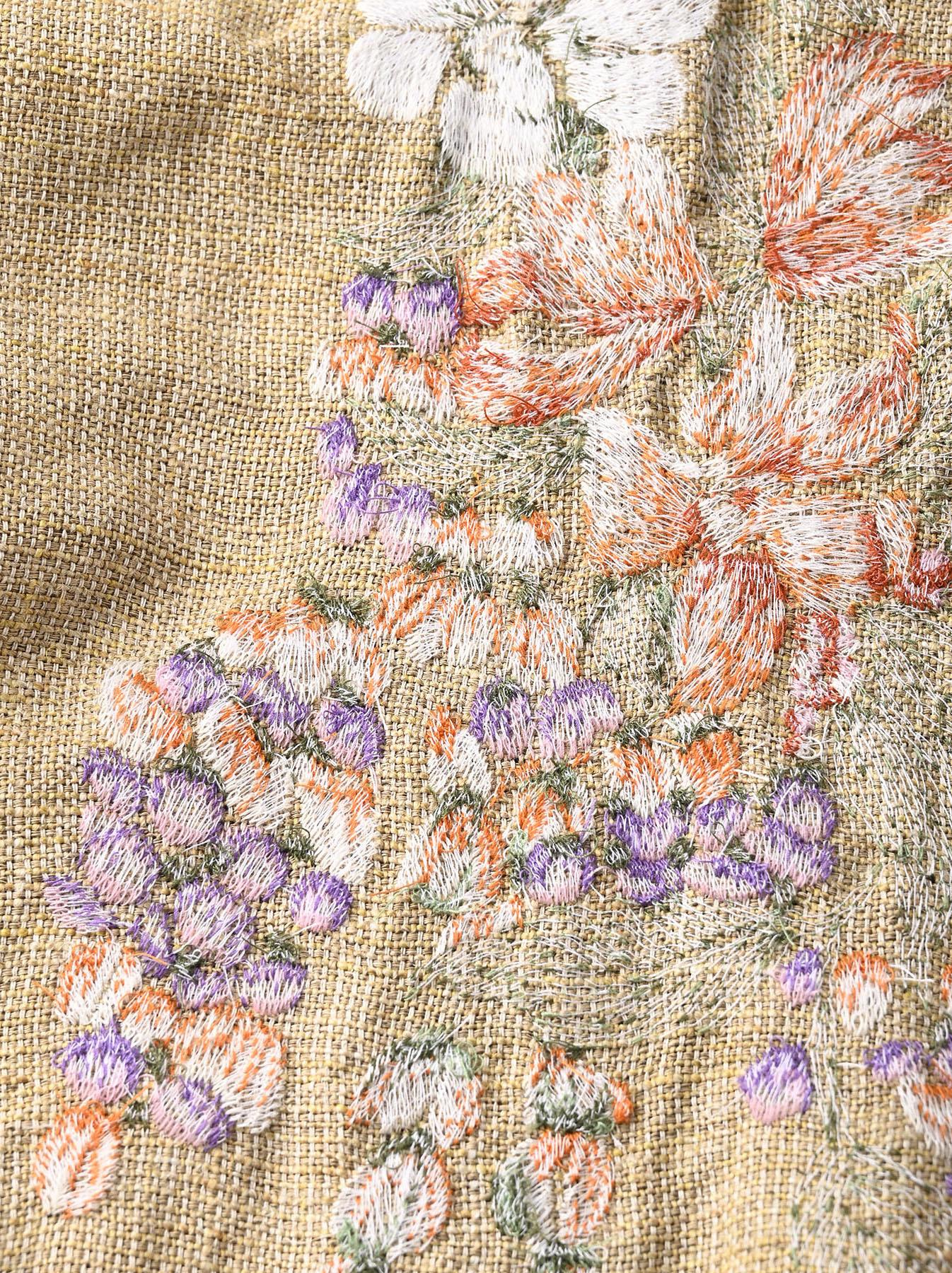 Gima Tweed Leilei Embroidery Dress-11