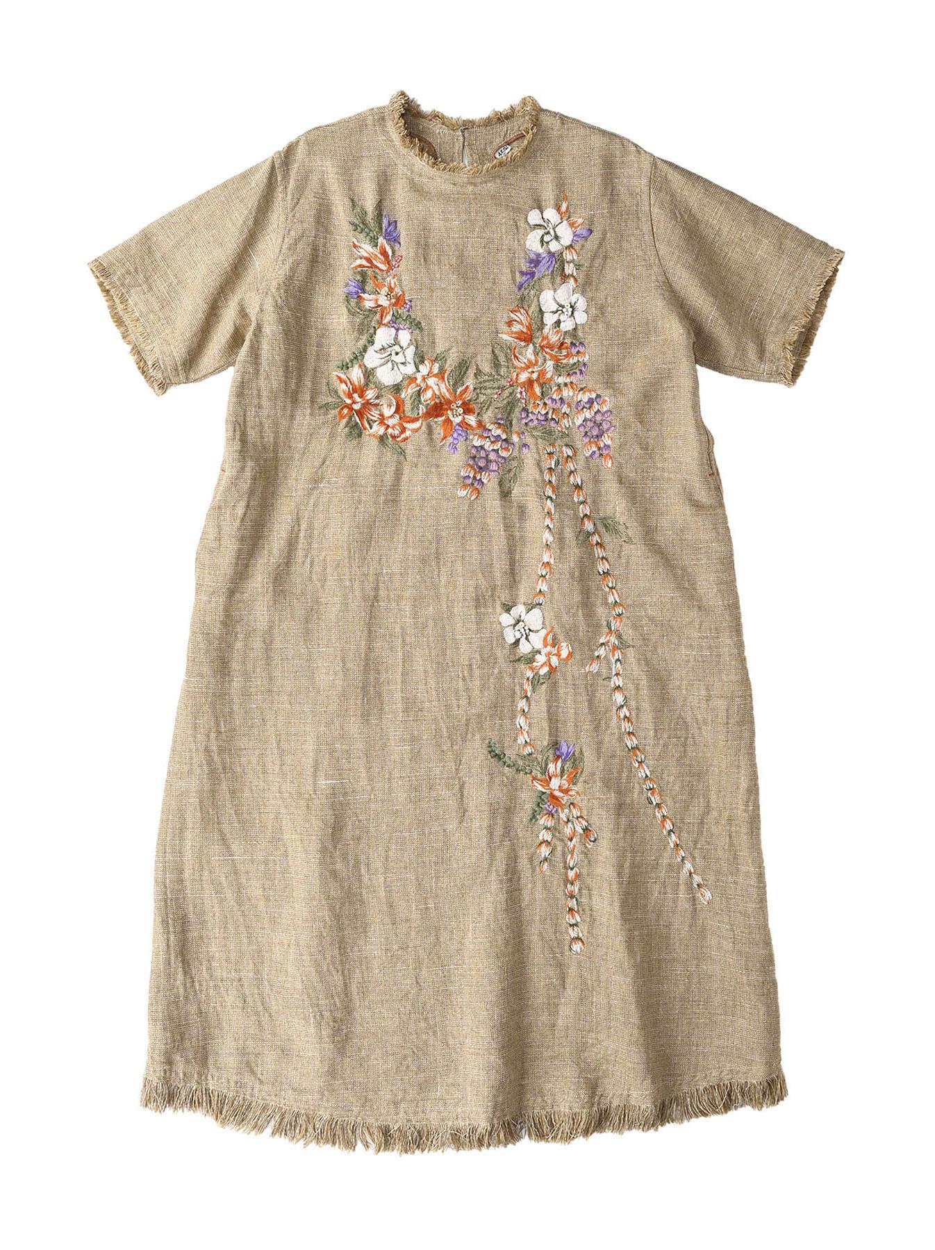 Gima Tweed Leilei Embroidery Dress-1