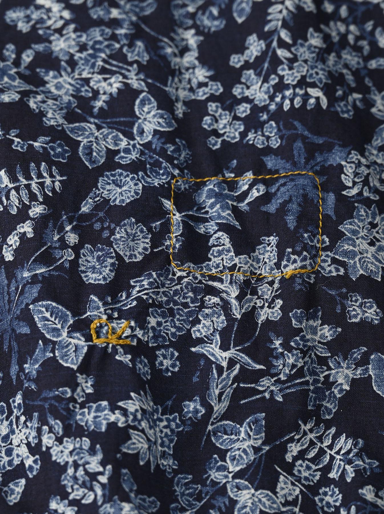 Indigo Tappet Flower Patchwork Dress-11