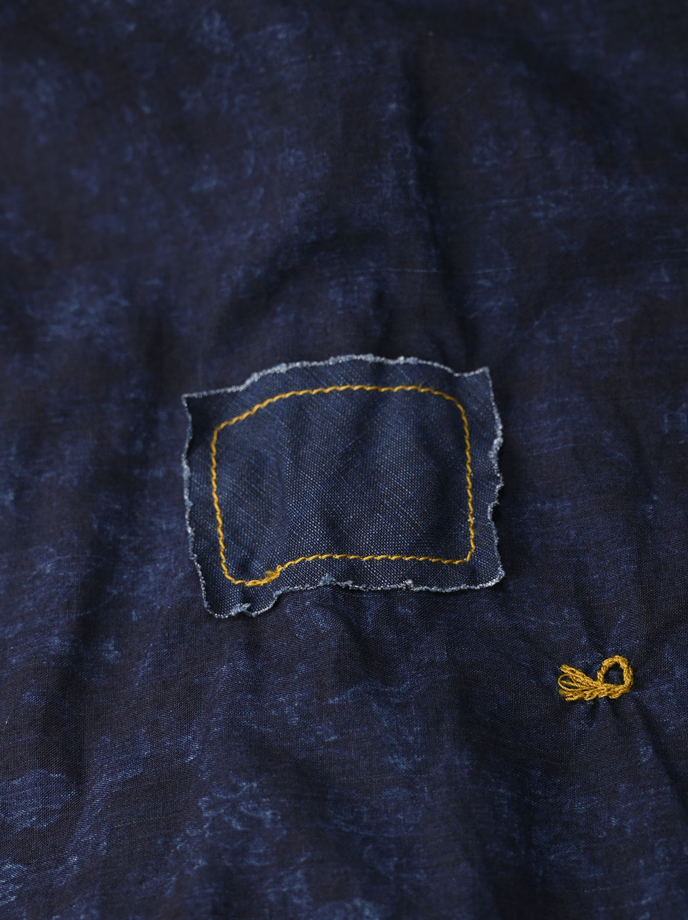 Indigo Tappet Flower Patchwork Dress-12