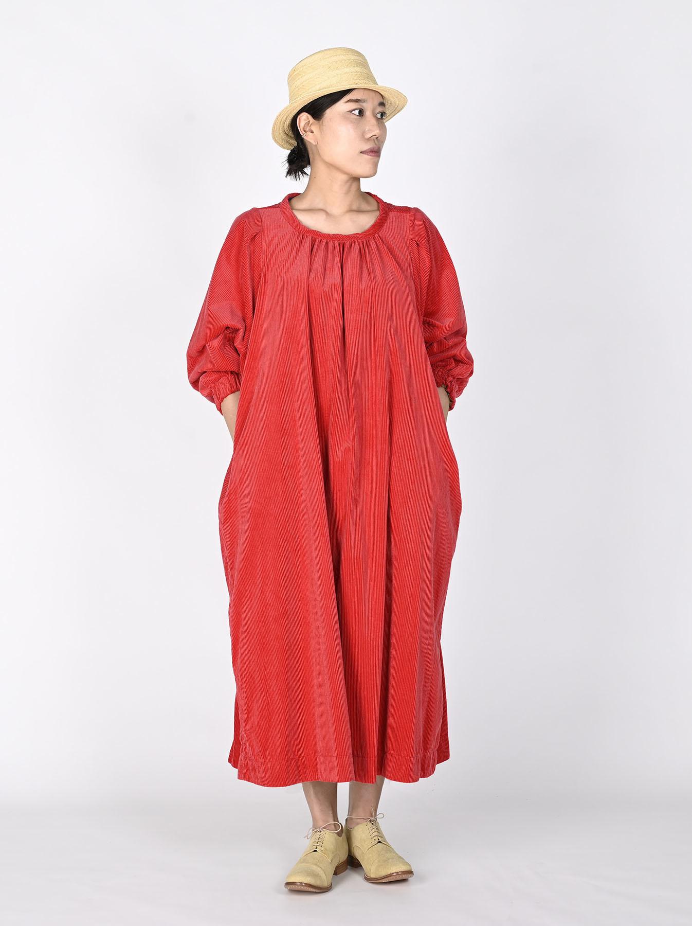 Kutekute Corduroy Gathered Dress-4