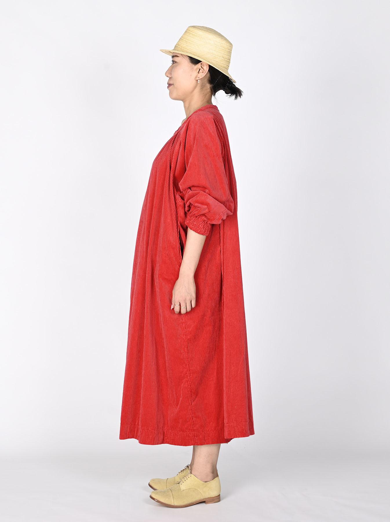 Kutekute Corduroy Gathered Dress-5