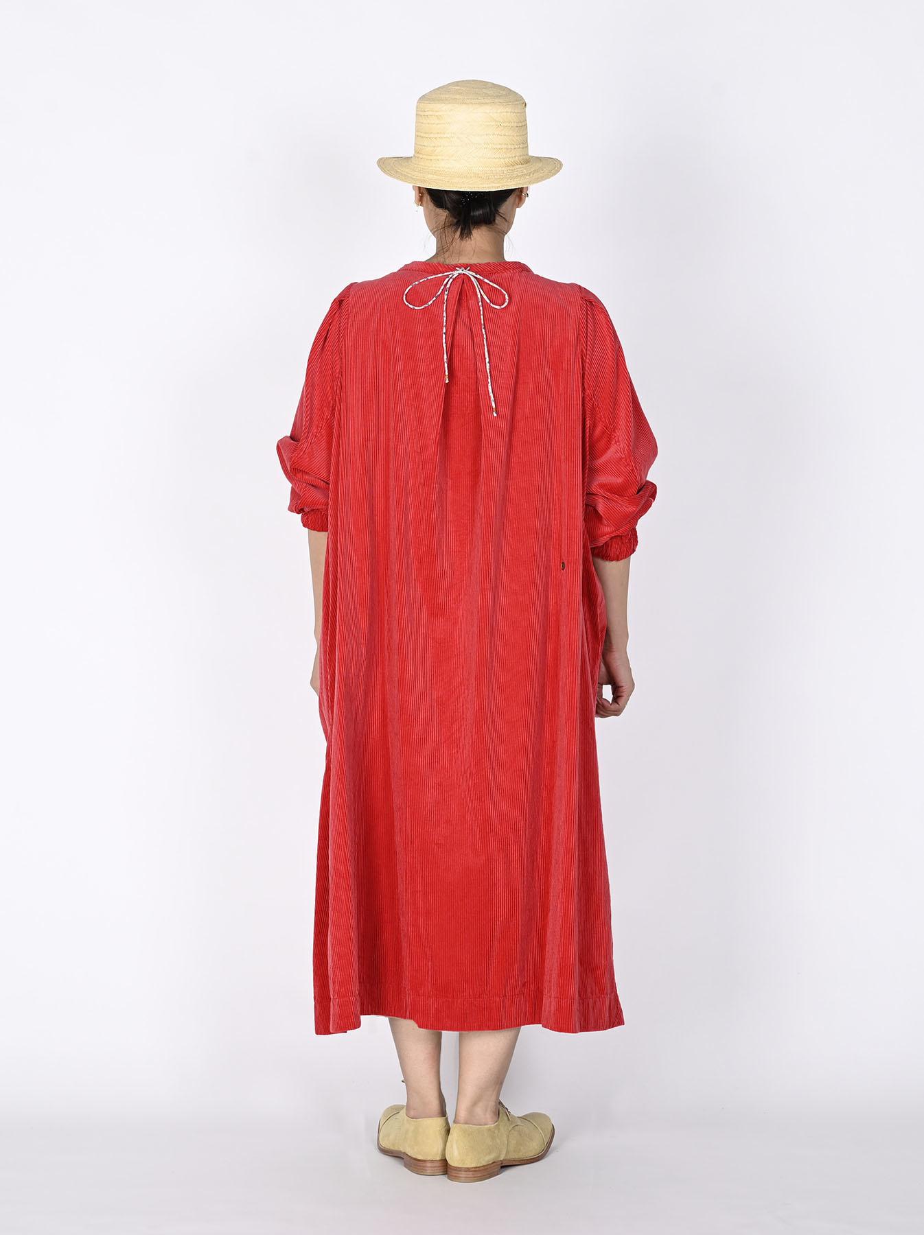 Kutekute Corduroy Gathered Dress-6