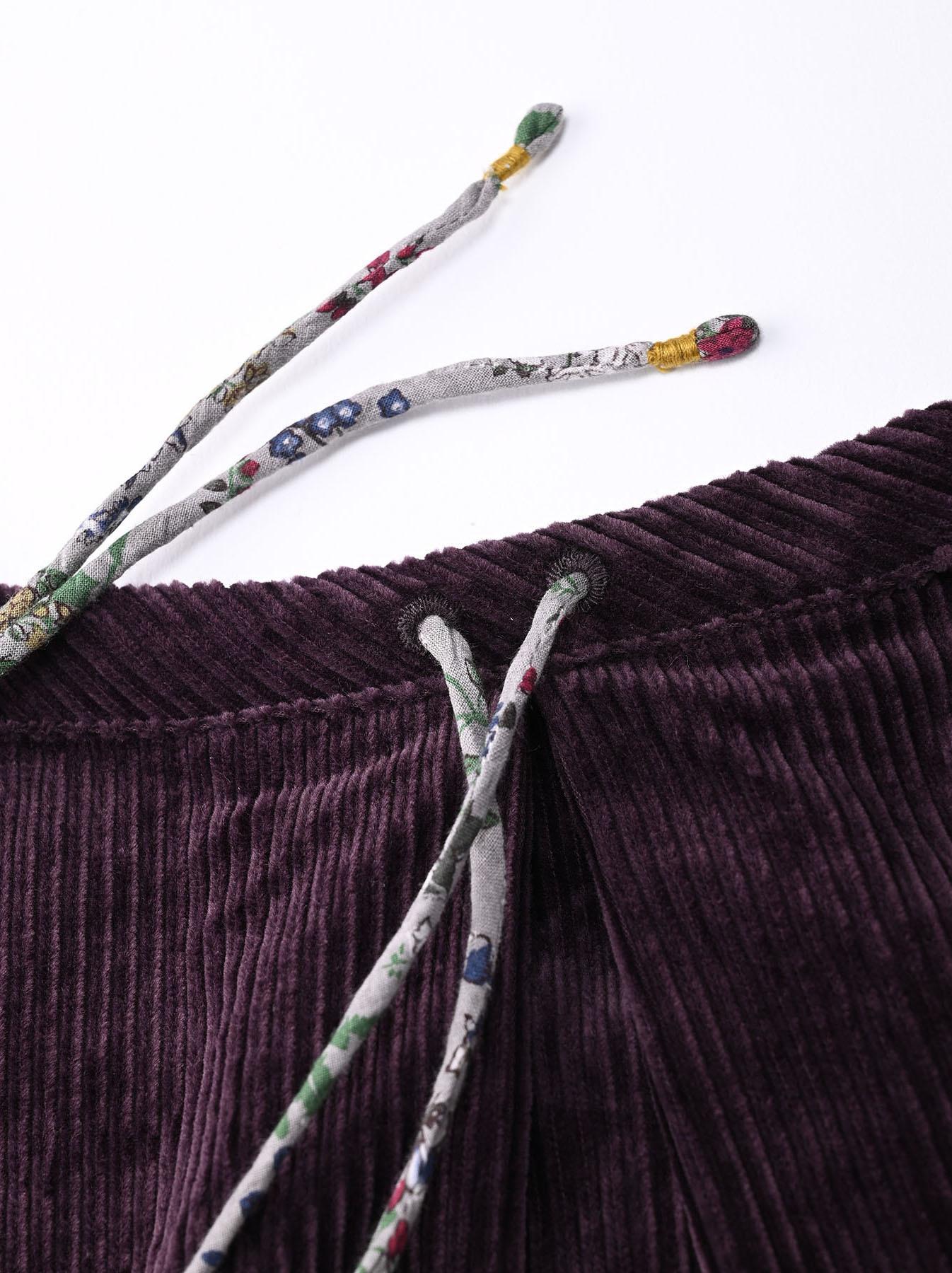 Kutekute Corduroy Gathered Dress-7