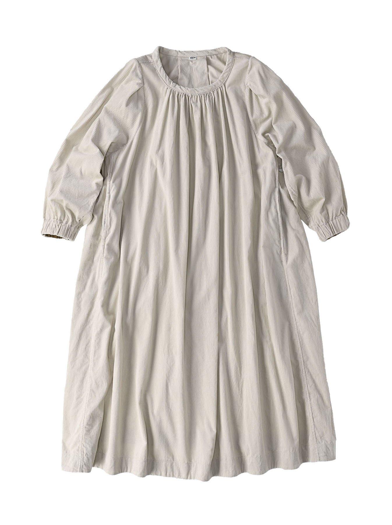 Kutekute Corduroy Gathered Dress-1