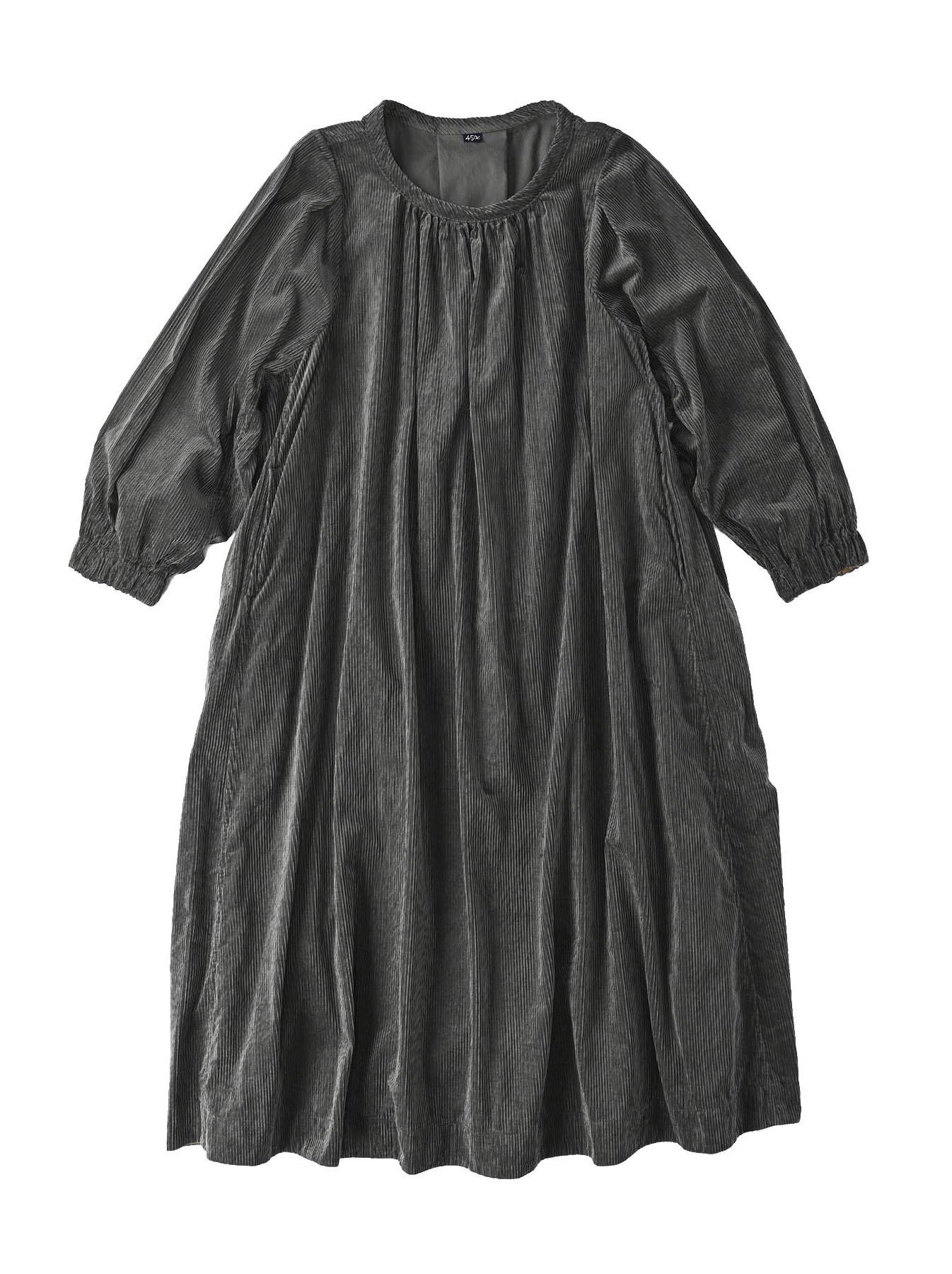 Kutekute Corduroy Gathered Dress-2