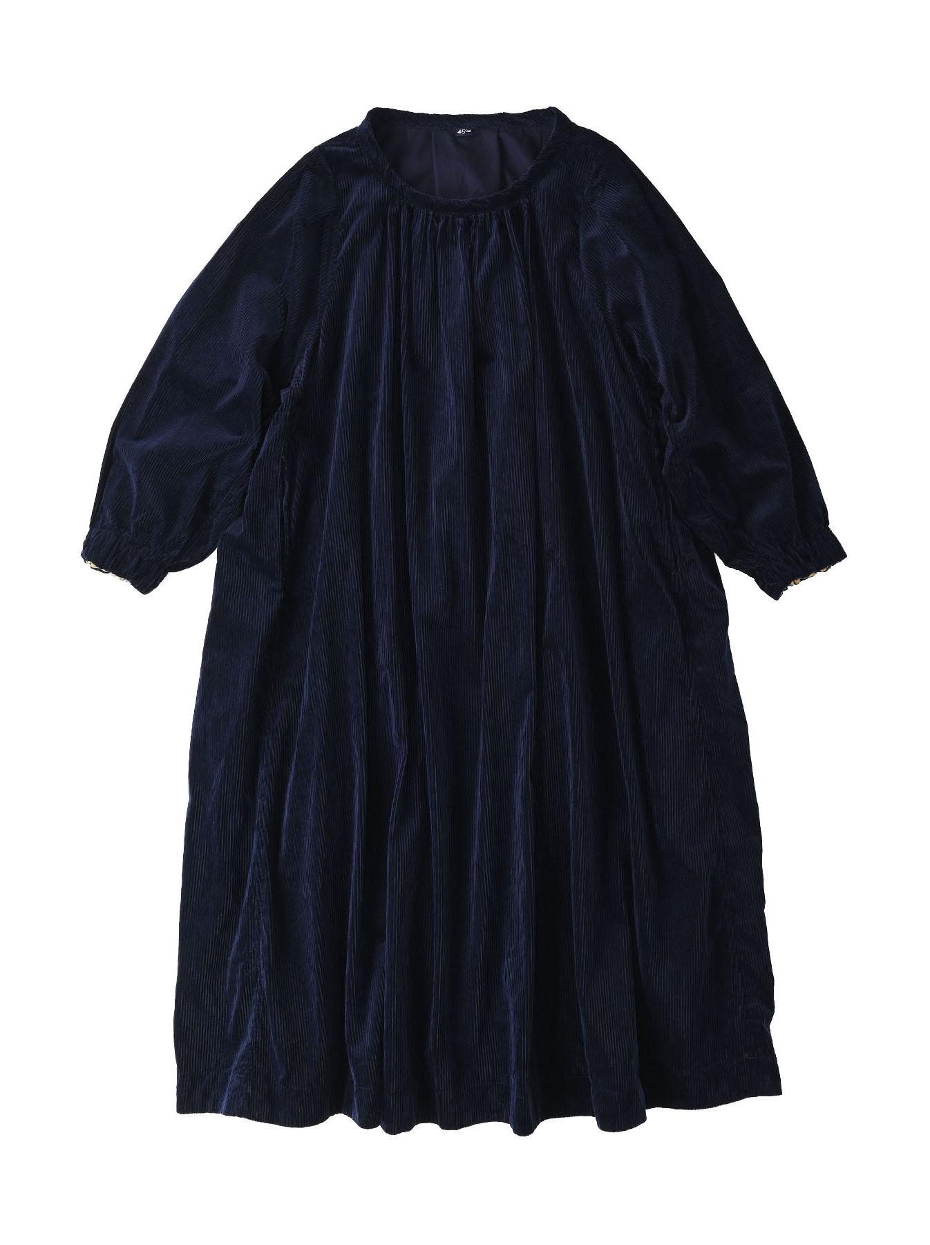 Kutekute Corduroy Gathered Dress-3